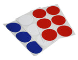 Round dots stickers in Red, White and Blue 50mm - All american colored dot labels 4th of July - 72 pack