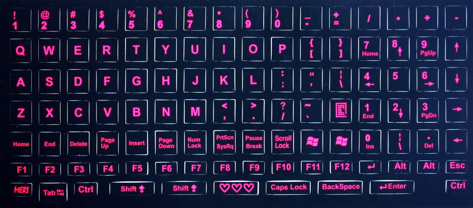 This is a photo of Universal Printable Keyboard Stickers