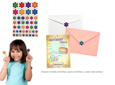 Color Coding Decorative Flower Stickers For Arts