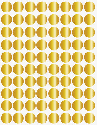Dot stickers ½ inch Metallic colors 13mm