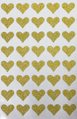 "Heart Glitter Stickers 3/4""x 3/4"""