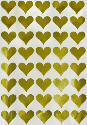 Heart Stickers Labels 3/4 inch 19mm