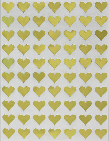 "Color Heart Stickers 1/2"" inch 13mm"