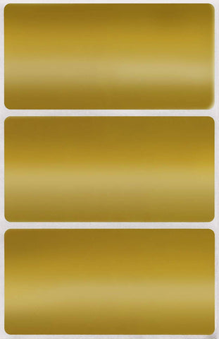 Rectangular stickers 4 x 2 inch Metallic colors 102mm x 51mm
