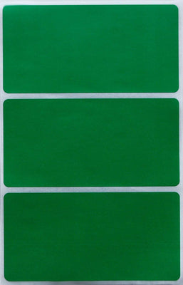 Rectangular stickers 4 x 2 inch classic colors 102mm x 51mm