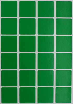 Square Stickers 1 x 1 inch Classic Colors 25mm x 25mm