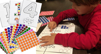 Fun Dot Sticker Activity Sheets for Kids, My First Numbers (1-10), Creative Learning for Ages 3–5