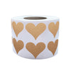 Heart Stickers 3/4 inch Label Rolls 19mm