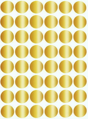 "Dot stickers 11/16"" inch Metallic colors 17mm"