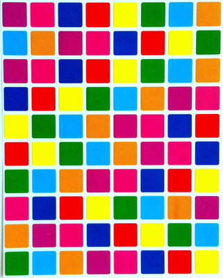 "Square Color Coding Labels 1/2"" Inch x 1/2"" Inch"