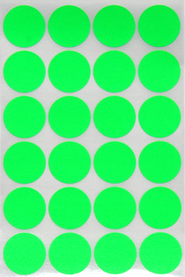Dot stickers 1 inch Neon colors 25mm