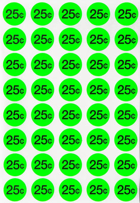 Price Dot Stickers 3/4 Inch Neon Color Labels 19mm