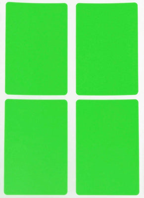 Rectangular stickers 3 x 2 inch Neon colors 7.5 cm x 5 cm