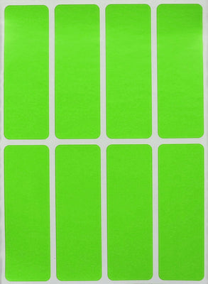 Rectangular stickers 3 x 1 inch Neon colors 76mm x 25mm