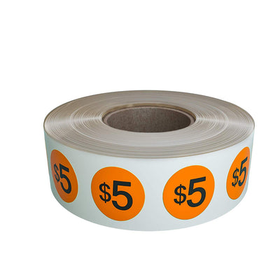 Price Dot Stickers 3/4 Inch Neon Colors in Rolls 19mm