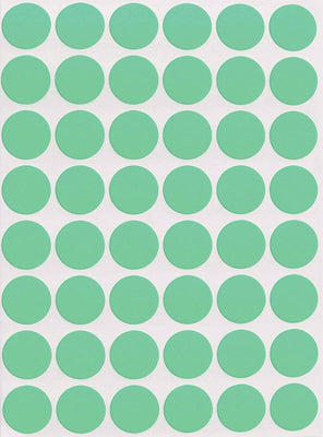 Dot stickers 11/16 inch Pastel colors 17mm