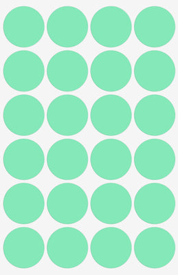 Dot stickers 1 inch Pastel Colors 25mm