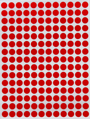 Dots Stickers 8mm ¼ Inch Solid Color