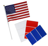 Red, White and Blue rectangular labels 4x2 perfect for party favor tags, 4th of July all American - 36 pack by Royal Green