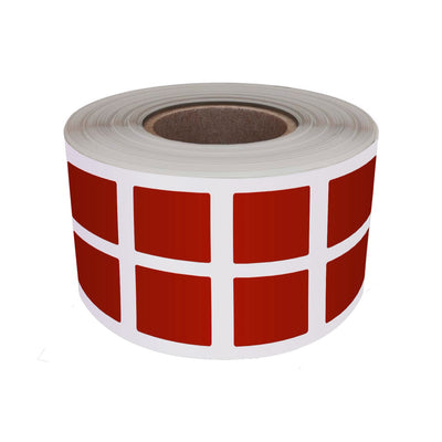 Square Stickers 1x1 inch Label Rolls (25mm x 25mm)