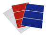 Red, White and Blue rectangular labels 4 x 2 inch 4th of July American 36 pack