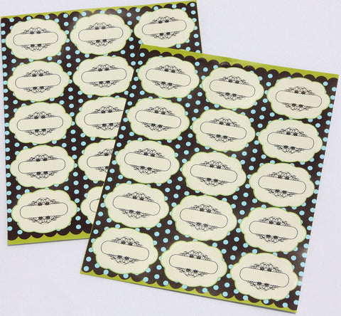 All-purpose Labels with Decorative Border. Great for Kitchen Organization, Freezer and Food Storage.