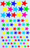 Rounded Coding Star Shape Stickers 6 Colors