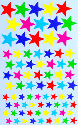 Star Shape Stickers 6 Colors