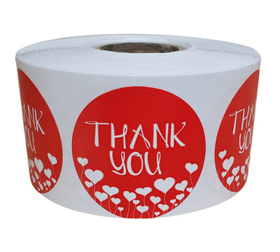 Thank You Stickers 1.5 inch Label Rolls 38mm