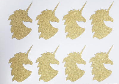 Unicorn Glitter Stickers 2 Inch For Party Supplies, Envelopes and Invitation Seals
