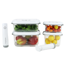 Smart Bundle! Food Saving Vacuum Container-5pc Set + Electric Vacuum Pump
