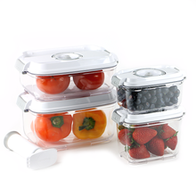 Food Saving 5PC Set Vacuum Container - (0.5L,0.8L,1.2L,2L with Pump)