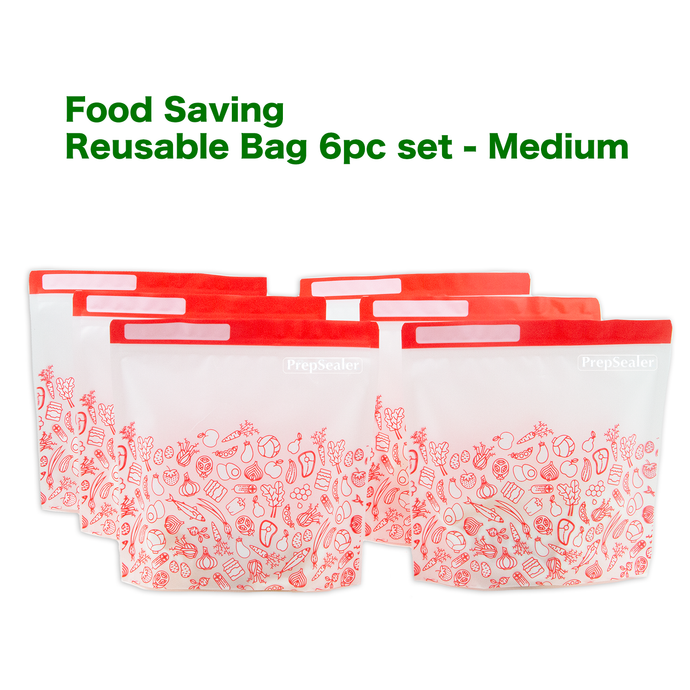 Food Saving Reusable Bag - Medium 6pc set