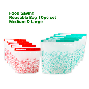 Food Saving Reusable Bag - Variety 10pc set (2-sizes)