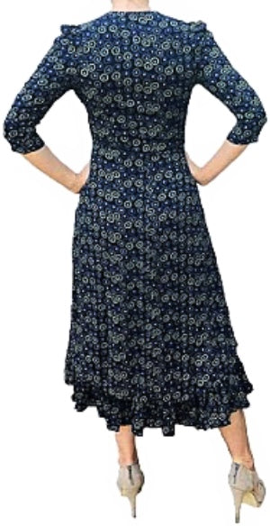 Fancy 40's Dress 3/4 sleeves