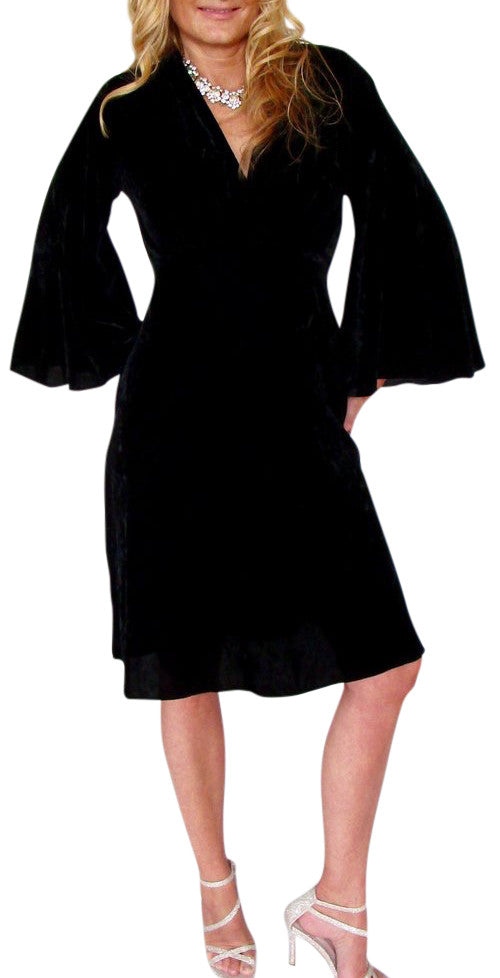 Silk Velvet Sophia Dress 3/4 sleeve