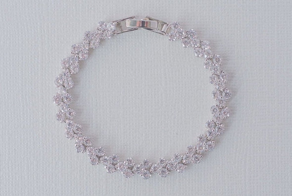 Theo Cubic Zirconia Bracelet - Silver & Rose Gold