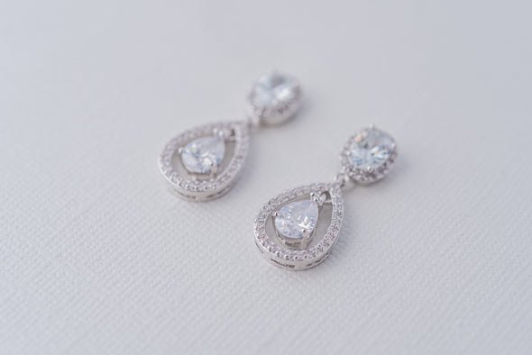 Olivia Cubic Zirconia Teardrop Earrings