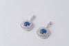 Celine Cubic Zirconia Earrings - Silver and Royal Blue