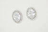 Zinnia Cubic Zirconia Earrings - Silver & Gold