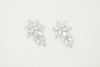 Blossom Cubic Zirconia Earrings - Silver