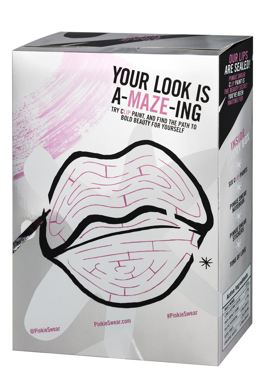 Pinkie Swear Clip Paint Deluxe Makeup Cereal Box