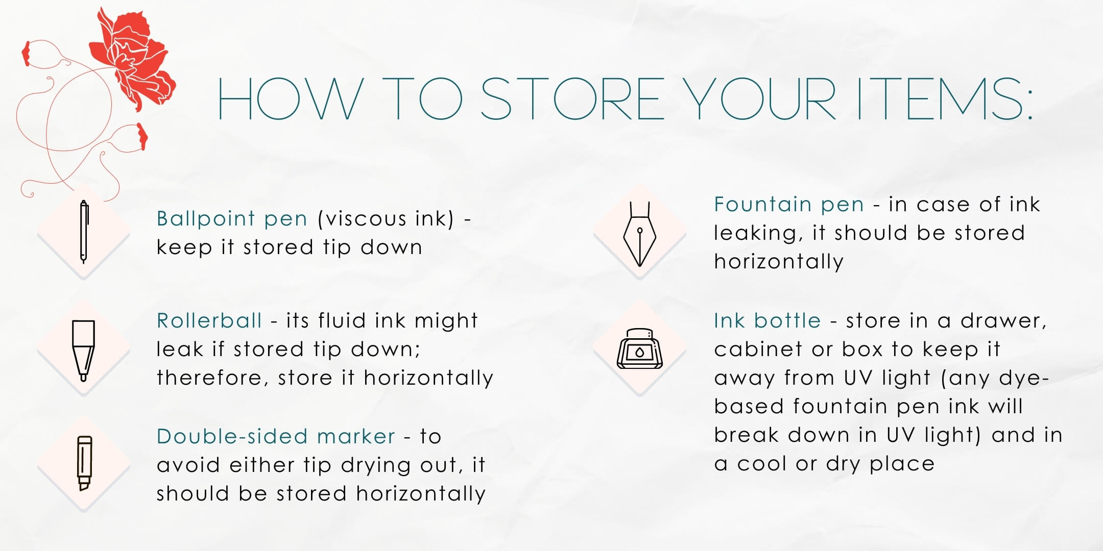 How to store your items
