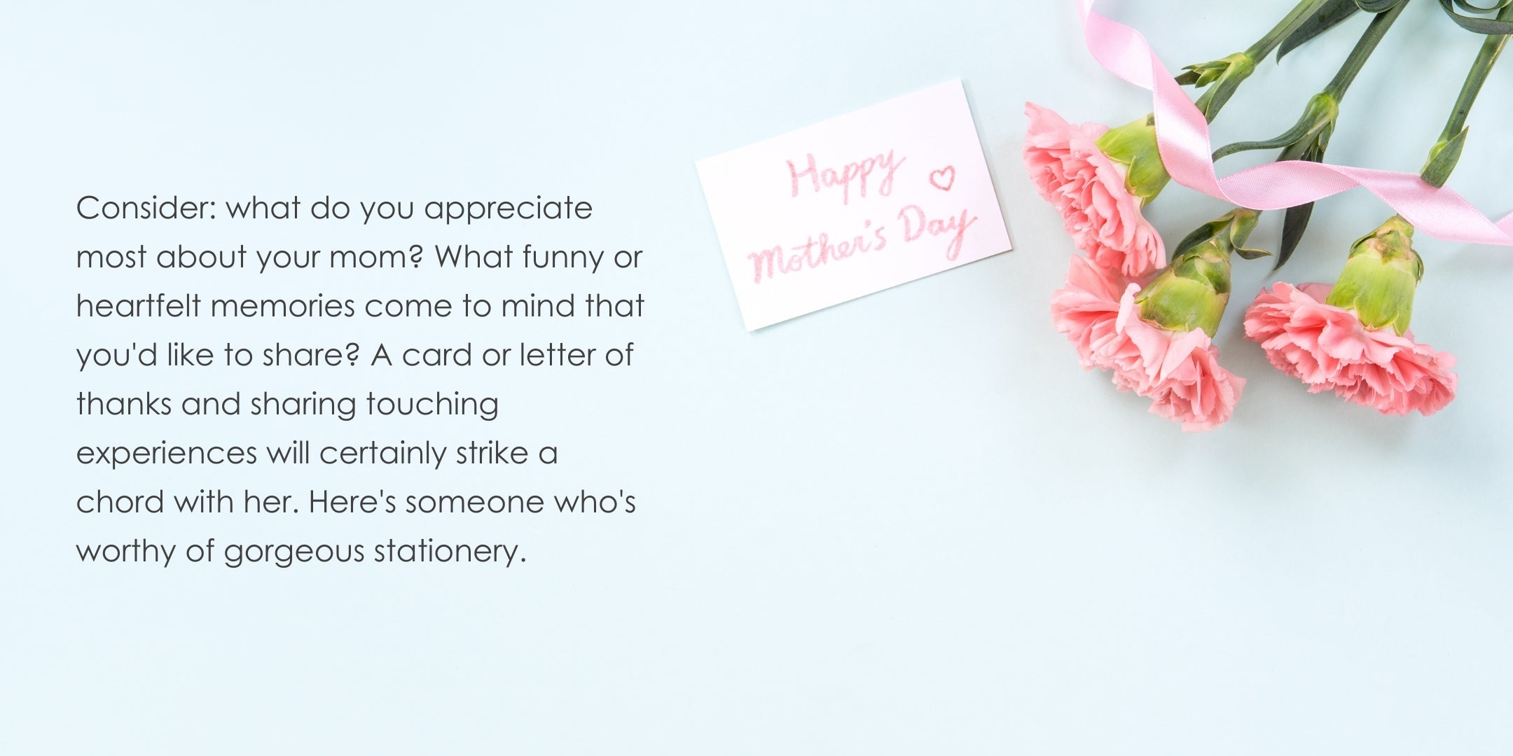 Flowers with Mother's Day card
