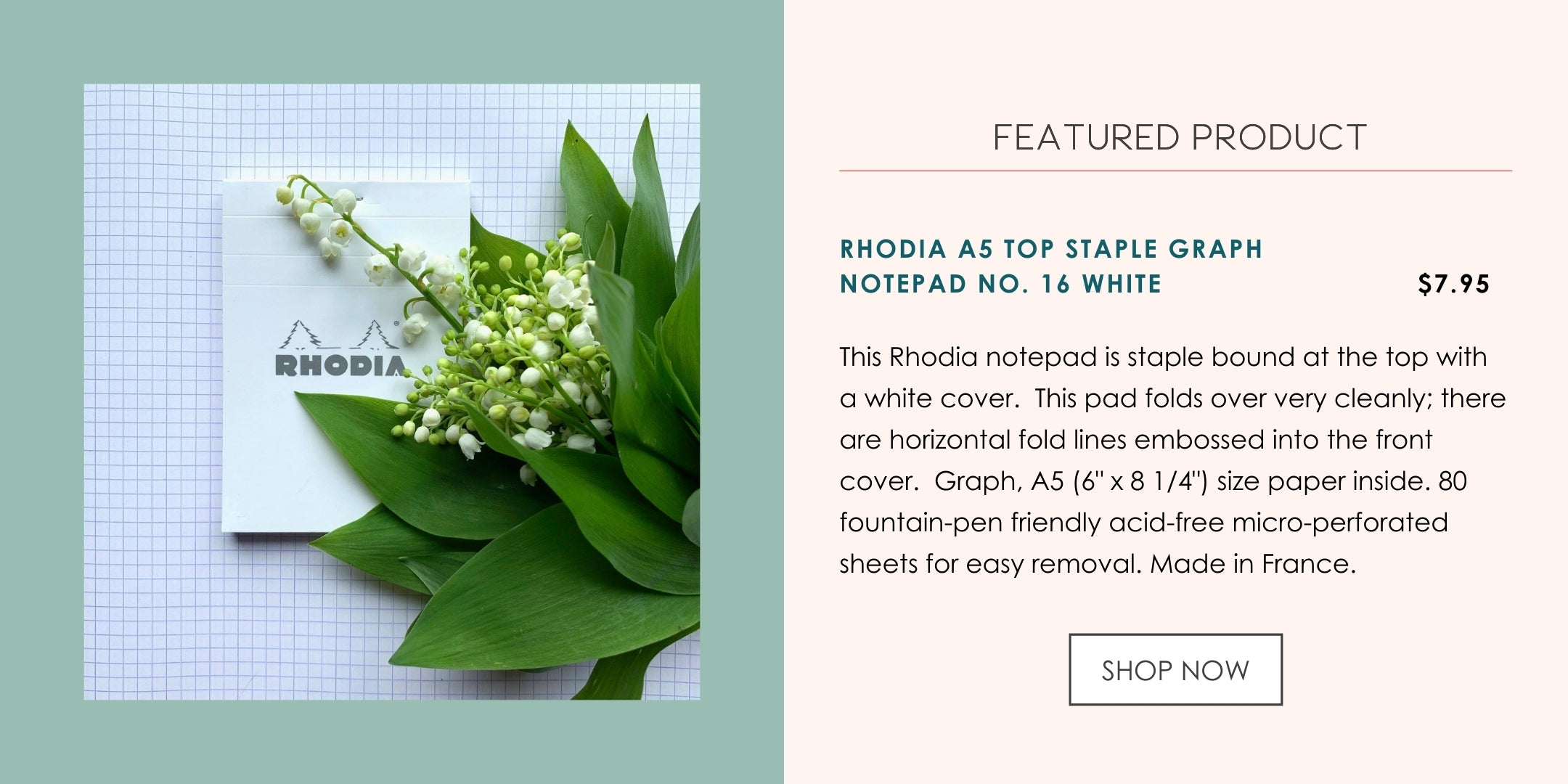 Featured Rhodia Notepad