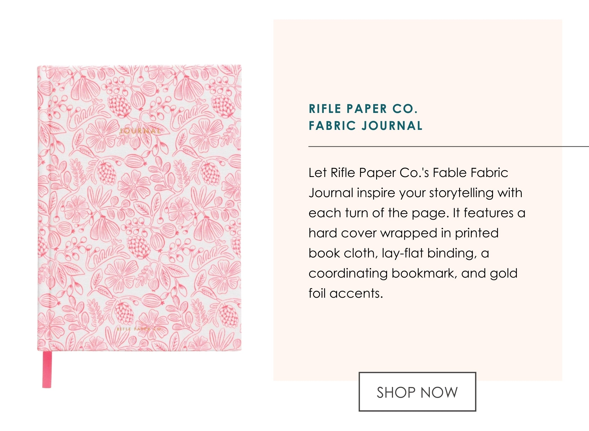 Rifle Paper Co Fabric Journal