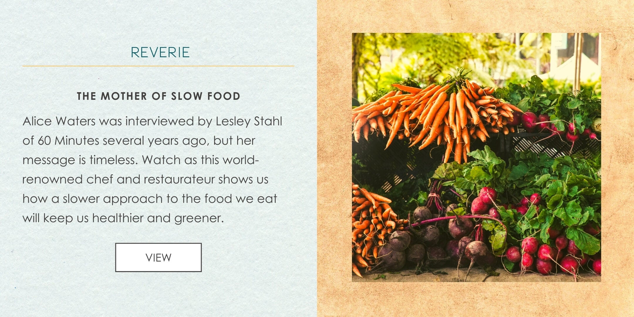Alice Waters video