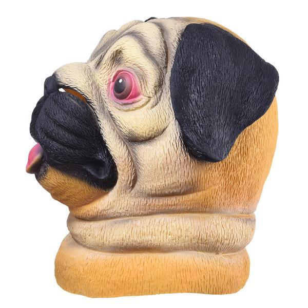 Pug Crazy Pug Mask (Halloween, Party)