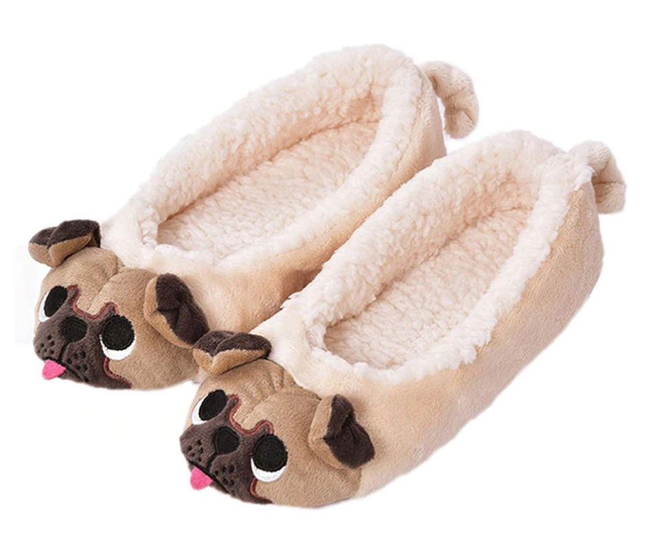 Pug Crazy™ Pug Plush Slippers