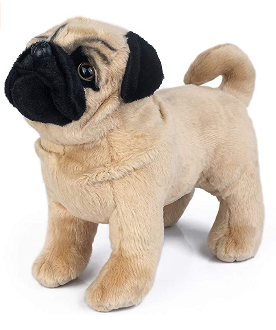 Pug Crazy™ Pug Plush Teddy Bear Stuffed Animal Toy